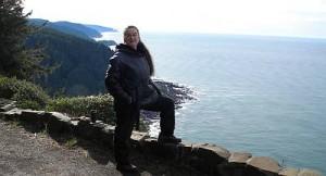 Marnie on Cape Perpetua Oregon