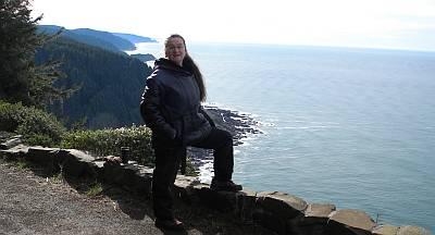 Marnie on Cape Perpetua, Oregon